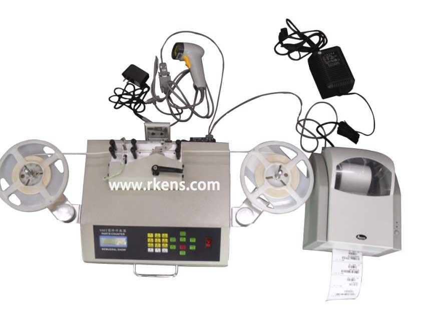 Precise component counter with bar code scanner & label printer