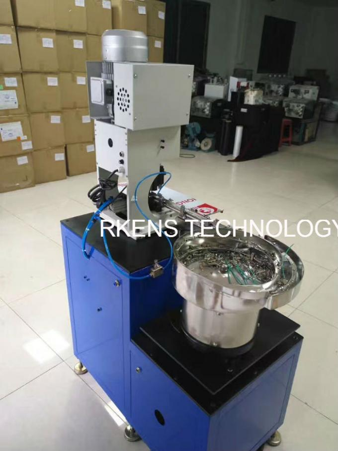 Wire Terminal Crimping Machine With Automatic Feeder Bowl